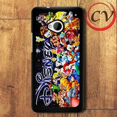 All Disney HTC One M7 Black Case