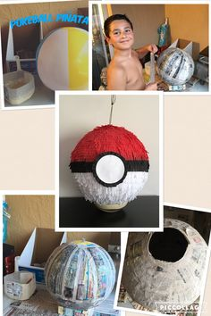 How to make a Pokeball Piñata for a Pokemon birthday party. How said piñatas are…