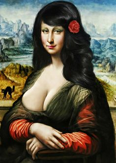 COIFFEUR LEONARDO (my artistic makeover!) [Roberto Rizzato on FLICKR] (Gioconda / Mona Lisa)