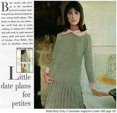 1965 Seventeen magazine Molly Corby
