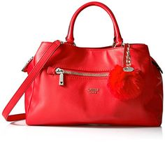 GUESS Tenley Girlfriend Satchel Red >>> Want to know more, click on the image.Note:It is affiliate link to Amazon.