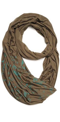 Wear the Origin of the species around your neck with this super soft, oversized circular scarf from our nature-inspired Urban Buff® collection. Offered in two dusty colors featuring intricate fossil illustrations. Wrap it once, twice, or three times around your neck for distinctly different warm-weather looks.  Normally $60, but on sale for a limited time at $48