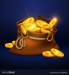 Cartoon big old bag with gold coins cash prize Vector Image , Coin Design, Game Design, Coin Icon, Buy Gold And Silver, Game Props, Gold Money, Cash Prize, Game Icon, Coin Bag