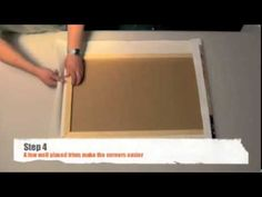 How to wrap canvas paper around a canvas - folded corners