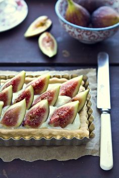 A fig tart!  Recipe needs to be converted so that takes time...but YUM...sounds so worth it.  Gorgeous!