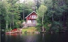 Private Lakefront Chalet-- quiet wooded area--great swimming and small boating.