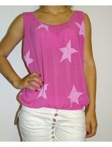 Hemd elastiek sterren roze €11.95