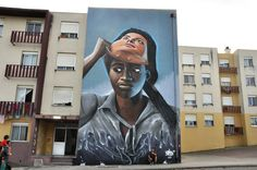 Street Art, Arte Urbana, Graffiti, O Bairro i o Mundo, Quinta do Mocho, Sacavém, Loures, Nomen.