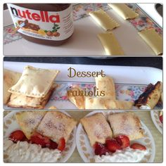Buy pre-made lasagna pasta, fill with Nutella and/or ricotta cheese, bake!