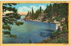 Unused Boats at Dock on Watauga Lake Vintage Tennessee Postcard