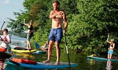 Stand-up paddleboarding on Nashville's Percy Priest Lake. Photograph: Kristin Sweeting