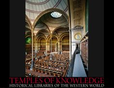 National Library, Labrouste Room, France from the limited edition BOOK: Temples of Knowledge: Historical Libraries of the Western World ©  AHMET ERTUG (PhotoArtist, Author). Shop site: http://www.biblio.com/books/245933899.html Photo site: http://www.templesofknowledge.com/ [Do not remove caption. The law requires you to credit the photographer. Link directly to his website.]  The Golden Rule: http://www.pinterest.com/pin/86975836527744374/