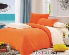 Lenjerie de pat bumbac satinat Casa New Fashion UNI crem si portocaliu Uni, New Fashion, Comforters, Satin, Blanket, Furniture, Home Decor, Creature Comforts, Homemade Home Decor