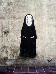 street art!   Ohngesicht  aus Chihiros Reise ins Zauberland