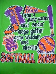 Southern Chics Funny Softball Mom 3 Sweet Girlie Bright T Shirt | SimplyCuteTees