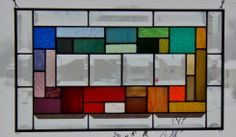 **Rainbow of color *** Beveled stained glass window panel geometric