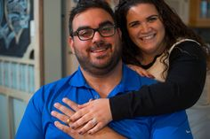 A happy Michael and Marianna show off their rings, reunited after his spent three months in the ocean.