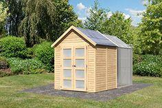 Abri de Jardin Bois 3.64 m2 avec Serre Polycarbonate 3.70 m2 (19 mm) FLORA 4