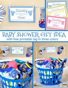 How to make an adorable baby shower gift basket while keeping baby shower laundry gift idea negle