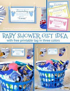 Baby Shower -  Laundry Gift Idea