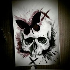 Skull drawing/paintng