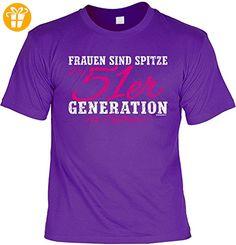 T-Shirt zum Geburtstag - Frauen sind spitze - Die 51er Generation ist spitzer! - Geschenk - Fun shirt - violett (*Partner-Link)
