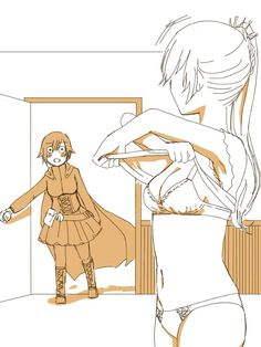 Your supposed to knock first Dolt! Rwby Anime, Rwby Fanart, Thicc Anime, Yuri Anime, Yuri Girl, Rwby White Rose, Rwby Weiss, Rwby Bumblebee, Rwby Red