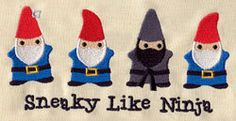Sneaky Like Ninja embroidered Burp Cloth by MorningTempest on Etsy, $14.00