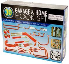 assorted garage & home hook set