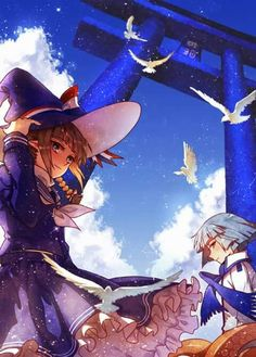 Wadanohara and Fukami from Wadanohara and the Great Blue Sea (W.A.T.G.B.S.) by MaJiang