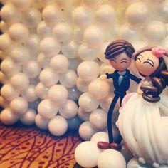 balloon wedding backdrop