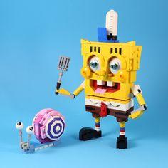 """SpongeBob & Gary"" by LEGO 7: Pimped from Flickr"
