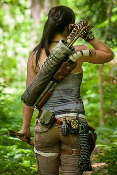 Real Leather Shotgun Holster for Lara Croft Tomb Raider