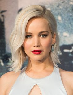 """Platinum Ice > Jennifer Lawrence > When Jennifer Lawrence appeared with a platinum bob, we got the sudden urge to book a double process—and not just because we'd copy anything J-Law does. """"That ski-bunny blonde rules in the winter,"""" says Lorri Goddard of the Goddard + Bragg salon in Los Angeles, who has worked with Reese Witherspoon. Make no mistake, this color is as high maintenance as they come, but it's an unquestionably glamorous way to beat the winter blues."""