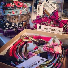 A few of our orders about to be posted! #tartan #floral #dogcollar