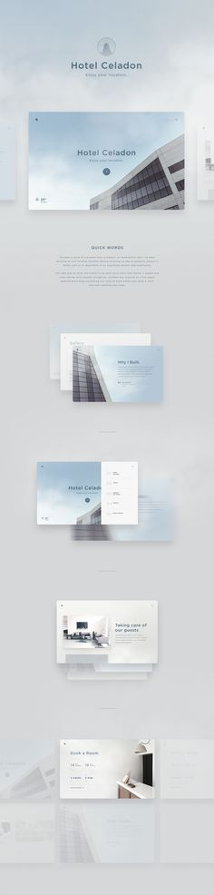 Celadon is more of a process than a project, an Imagination that I've been working on and finished recently, Mainly focusing on how to properly present a Hotel, Loft or an Apartment in an organized sensual web experience.