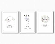 Monochrome Nursery Trio  Changeable Characters