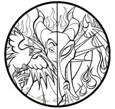 Commission: Maleficent by EbonshireForest Disney Coloring Pages, Coloring Book Pages, Coloring Sheets, Coloring Pages For Kids, Disney Diy, Disney Crafts, Drawing Sketches, Art Drawings, Drawing Faces