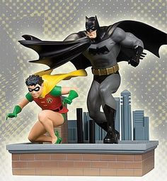 All Star Batman and Robin Statue 18 cm