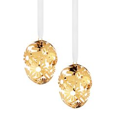 DAISY easter egg - 2 pieces, small, gold plated