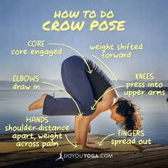 Here's a quick guide on how to practice and lift off in Crow pose :-) Re-pin and share the #yoga love! <3