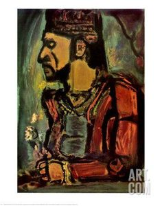 Old King Art Print by Georges Rouault at Art.com