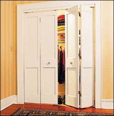 DIY bifold closet doors