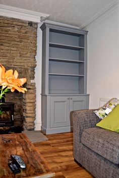 Alcove Cabinet with panelled doors and adjustable shelves. www ...
