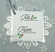 As promised, here is the first day of the Twelve Days of Christmas TAGS! This is a super simple tag to make using the Merry Little Labels. Christmas Hanukkah, Christmas Gift Box, Christmas Cards, Christmas Tags Handmade, Book Markers, Twelve Days Of Christmas, Stamping, Card Making, Greeting Cards