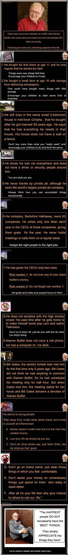 The frugality of Warren Buffett.