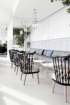 Gorgeous grey interior #restaurant #design