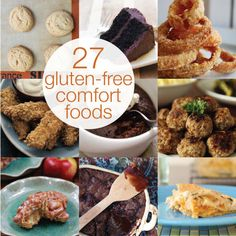 These 27 gluten-free comfort foods are either gluten free on their own or have been modified to be so. AMAZING!