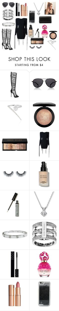 """""""Night Out"""" by nancymaria-2016 ❤ liked on Polyvore featuring Giuseppe Zanotti, The Row, Jade Trau, MAC Cosmetics, Bobbi Brown Cosmetics, Alex Perry, NYX, Cartier, Michael Kors and Gucci"""