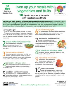 10 tips to liven up your meals with vegetables and fruits! http://go.usa.gov/3gjXB  #MyPlate